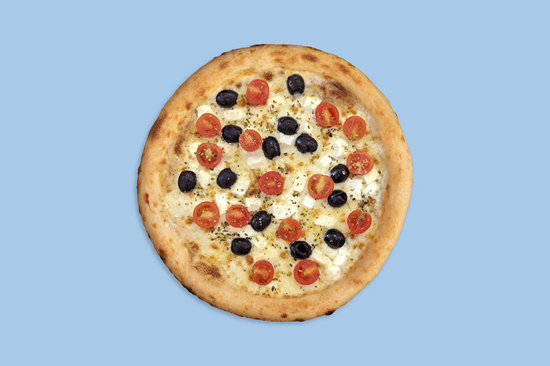 pizza grega ecològica